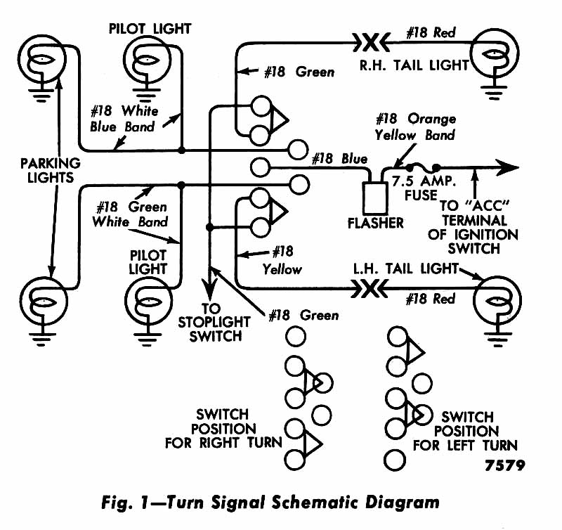 turn signal wiring diagram 1955