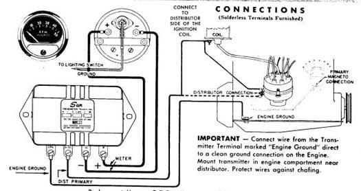 vintage sun tach wiring diagram