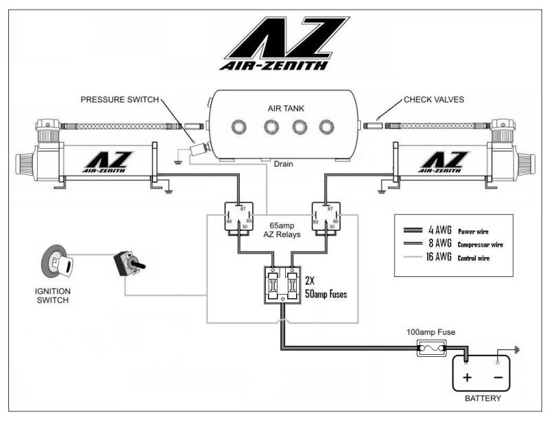 wiring diagram for air bag suspension
