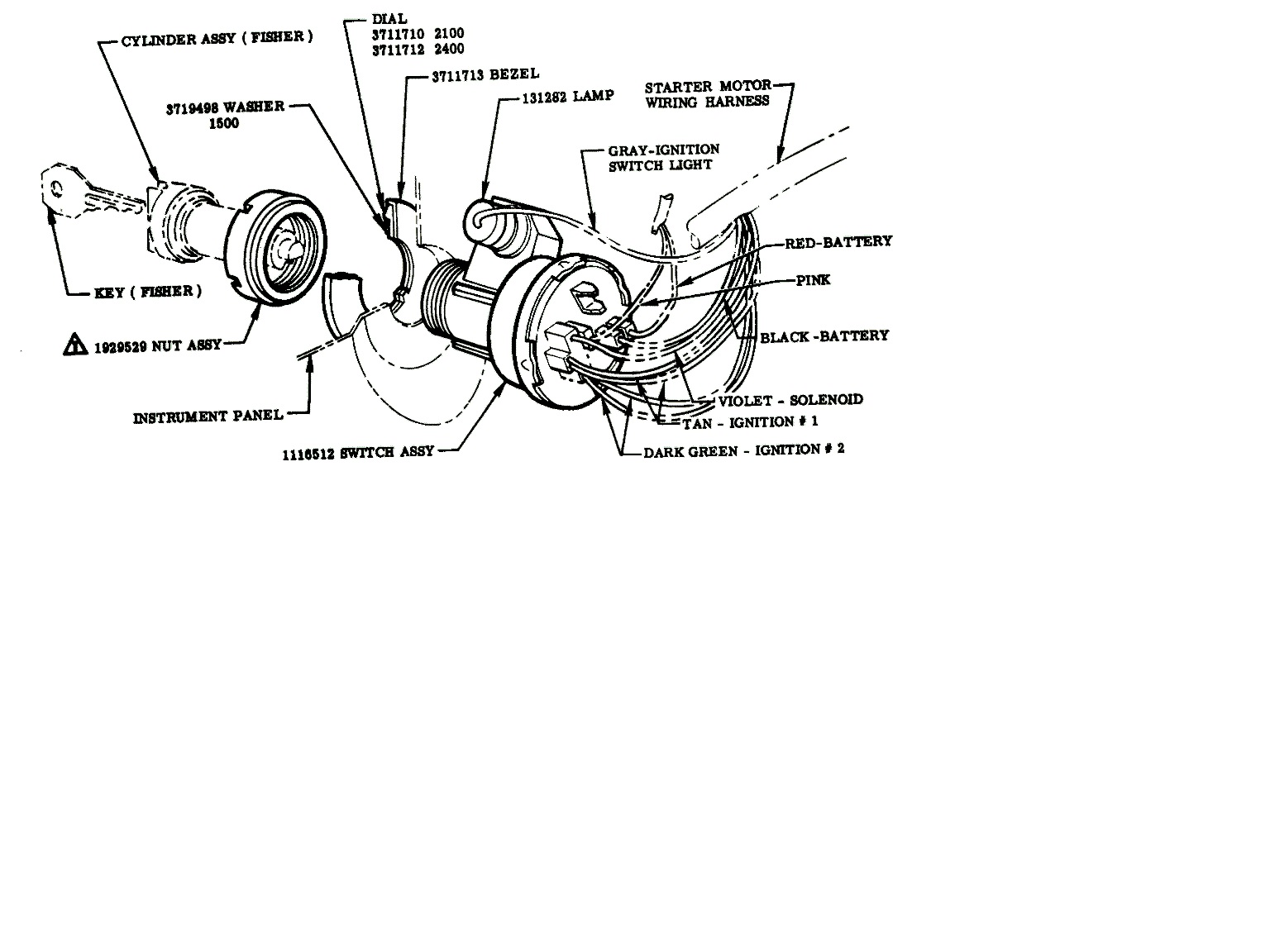 78 ford ignition switch wiring diagram