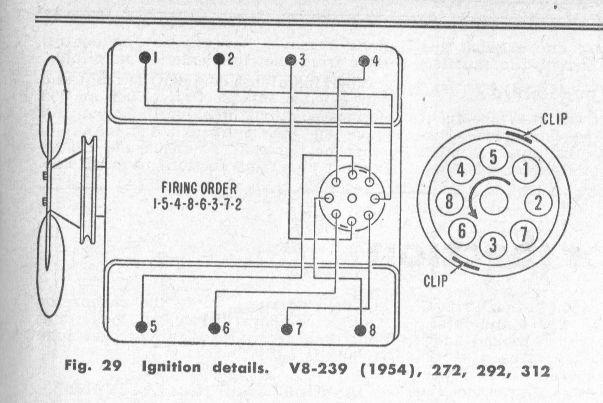 ford 292 distributor wiring