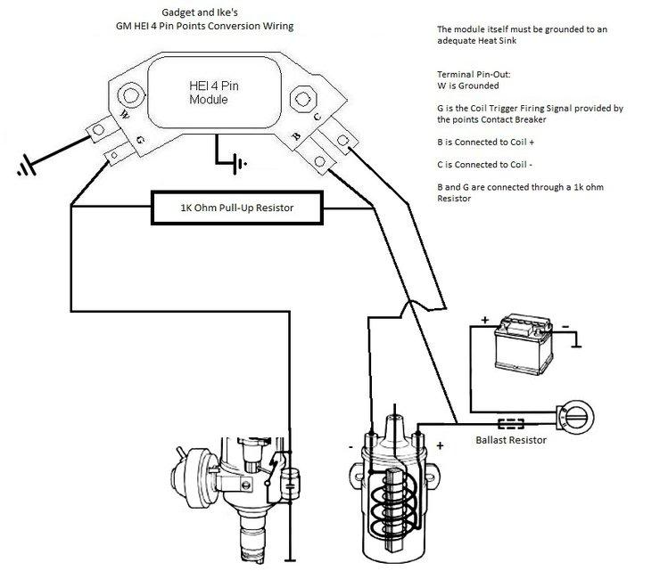 points distributor wiring diagram on gm hei ignition wiring diagram