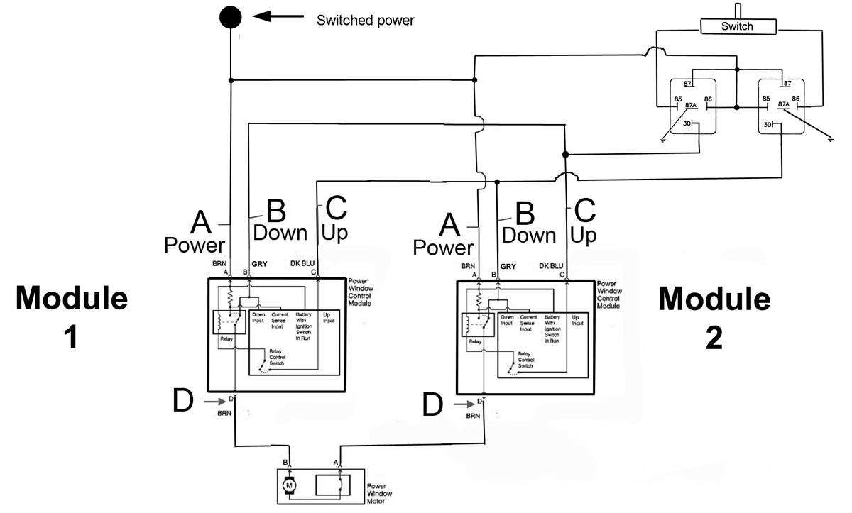 switch wiring diagram for an up and down