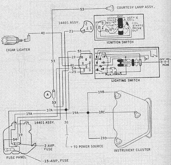 1954 ford headlight switch wiring diagram