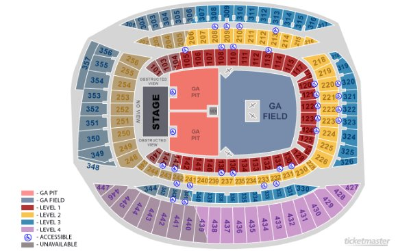 New Seating Chart Fare Thee Well Grateful Dead 50