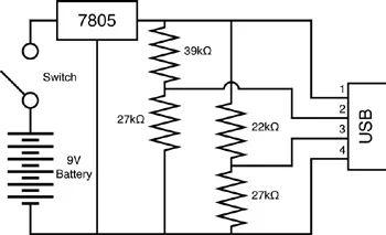 usb charging schematic