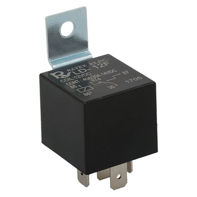 LD-12F Rayex Electronics  Relay Enclosed Style SPDT 12VDC 40A 80