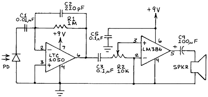 infrared remote tester circuit