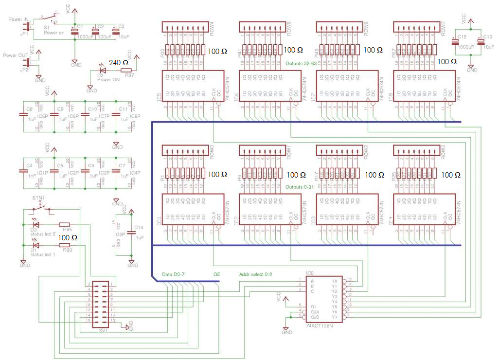 pin 8x8x8 led cube schematic on pinterest