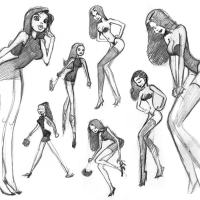 Girlie Sketches: Part 4
