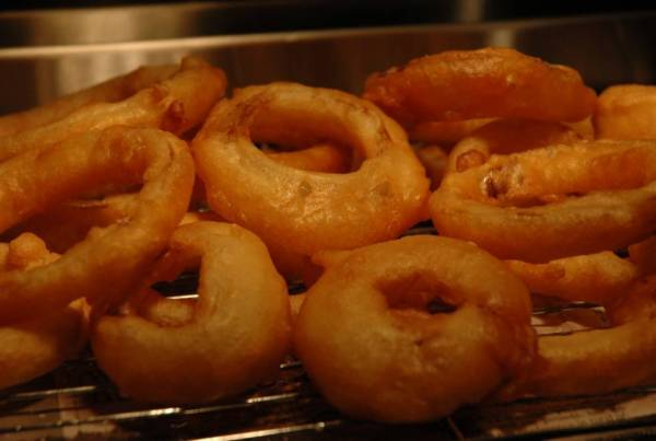 Beer Battered Onion Rings complimented with a Creole Mustard Dipping ...