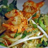 Grilled Shrimp with Peanut Sauce Noodle