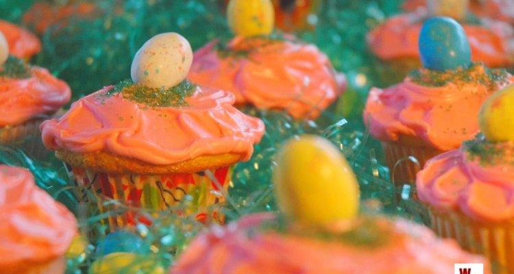 Egg hunt cupcakes wc