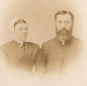 Ben and Julia Ann (Winger) Climenhaga circa 1885