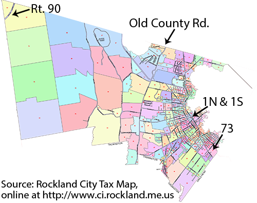 Tax Map of the city of Rockland, Maine