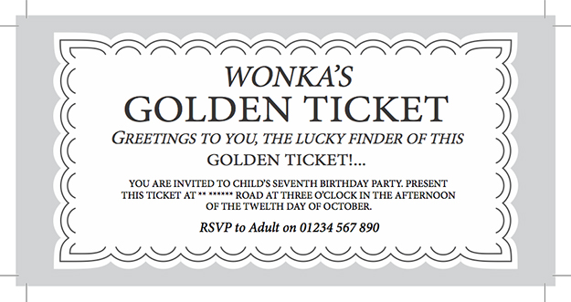 golden ticket template free - printable ticket template free