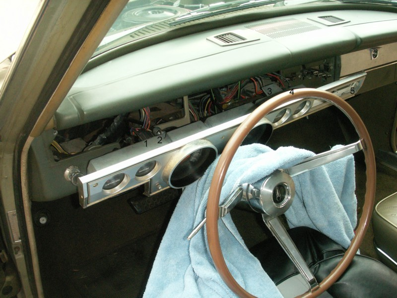 1966 Barracuda Instrument Panel Removal and Disassembly Photos