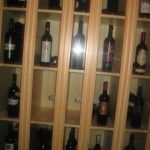 Wine cabinet at the back of the VIP room