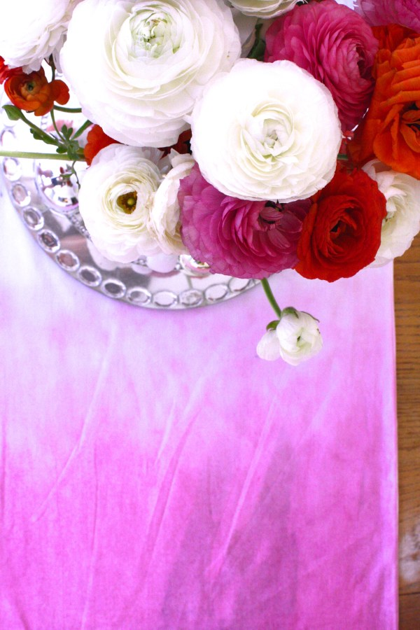 DIY Ombre table runner