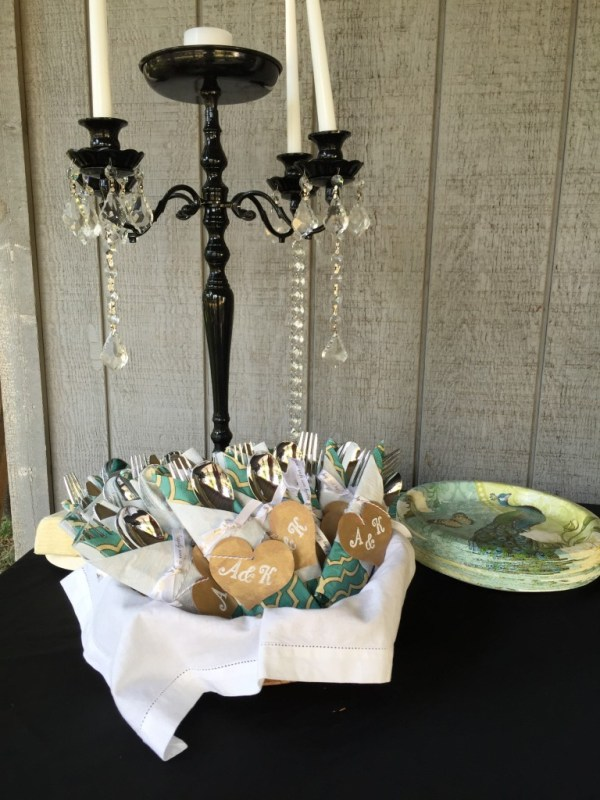 serving utensils, event decor