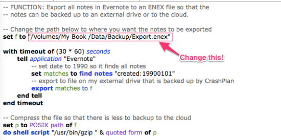 Evernote Backup