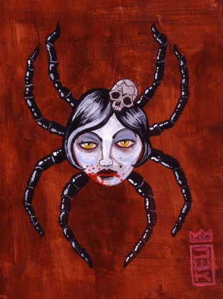 Spider Girl 2012 Acrylic, Paper $50.00