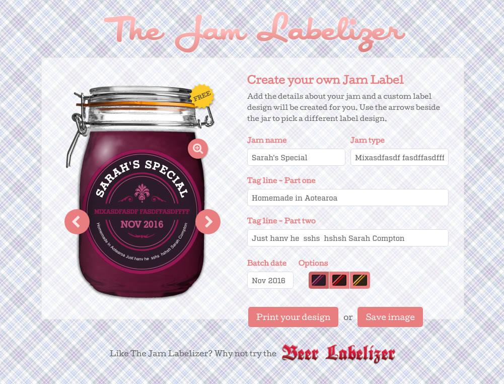 Jam  Preserve Jar Labels - Custom Designs Jam Labelizer