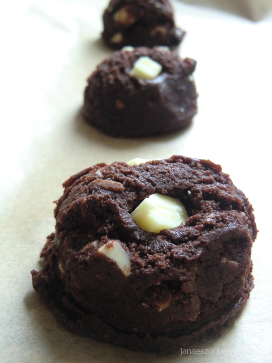 Brownie Cookies mit Weiße Schokolade