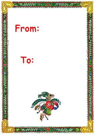 Christmas Gift Name Tags