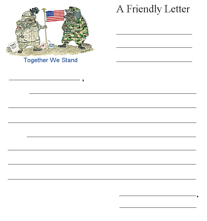 Friendly Letter Together We Stand