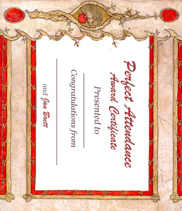 PRINTABLE CERTIFICATES Perfect Attendance Certificate - Free Printable Perfect Attendance Certificate