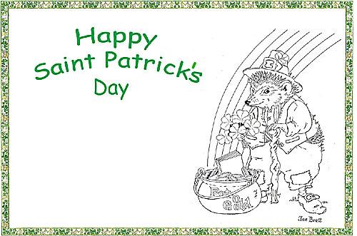 Happy Saint Patrick\u0027s Day Coloring Place Mat