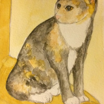 Karma-My-Cat-Watercolor