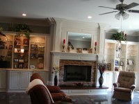 Fireplace surround w/bookcase/cabinets on each side  336 ...