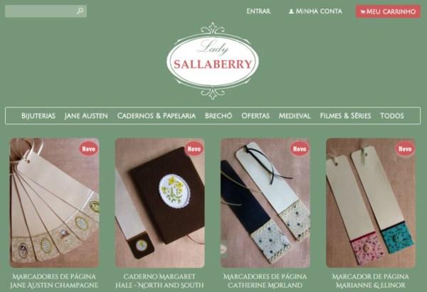 Lady Sallaberry, a loja do Jane Austen em Português