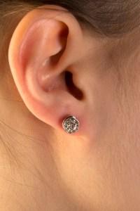 Small Diamond Stud Earrings for Pierced Ears - Jane ...