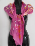 Hot Pink Doodle Scarf