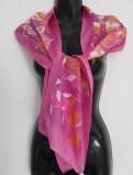 Hot Pink Doodle Scarf