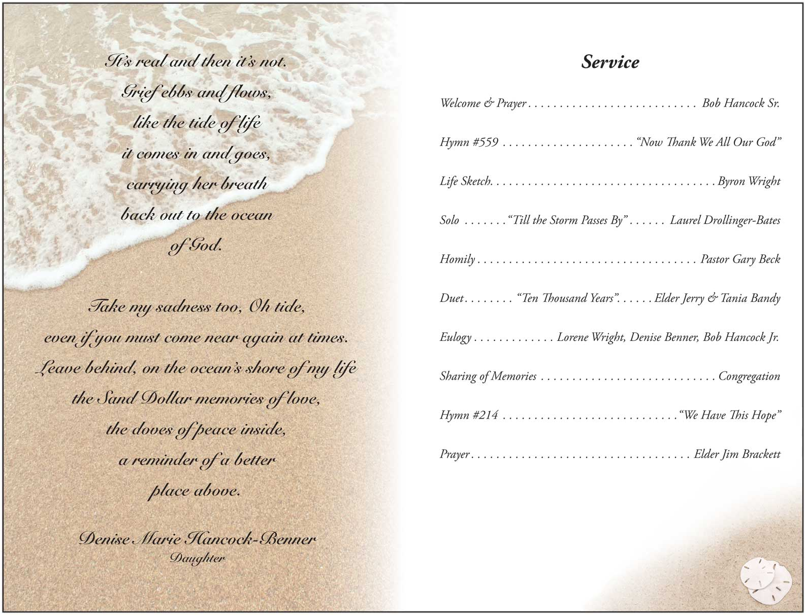 Printable Funeral Program Templates On funeral – Funeral Service Announcement Template
