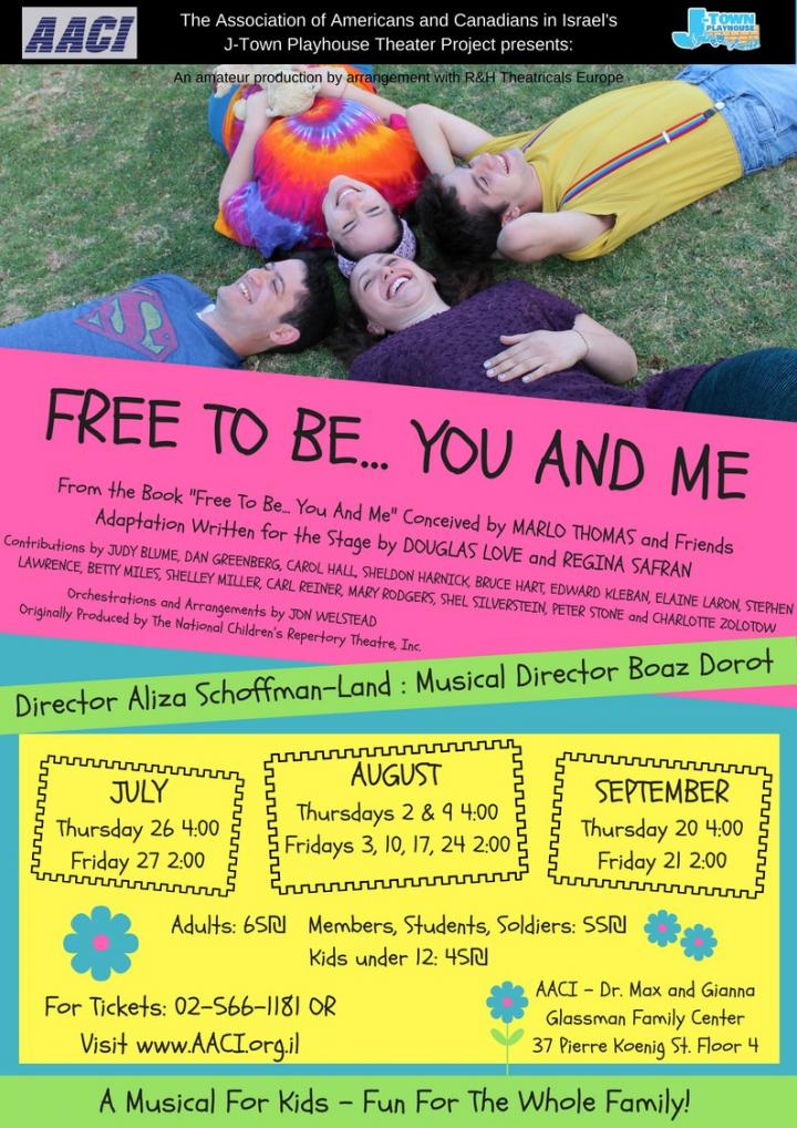 Free to BeYou and Me- A Musical for Kids! (Talpiot) - would 4 free