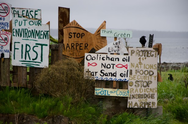 Protest Signs at Old Masset, Haida Gwaii