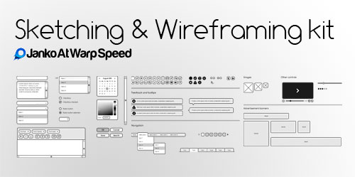 Free Sketching  Wireframing Kit  Janko Jovanovic