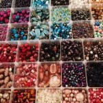 Lot of pretty beads to choose from at the Janmary Designs hen party in Banbridge this evening
