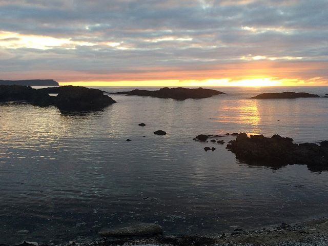 Sunset in Ballintoy
