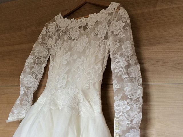 Mum's wedding dress from 1962
