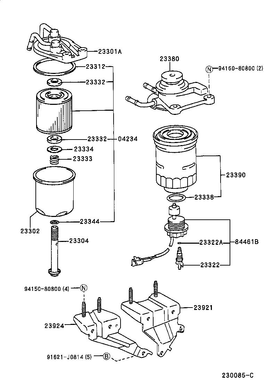 2000 echo fuel filter