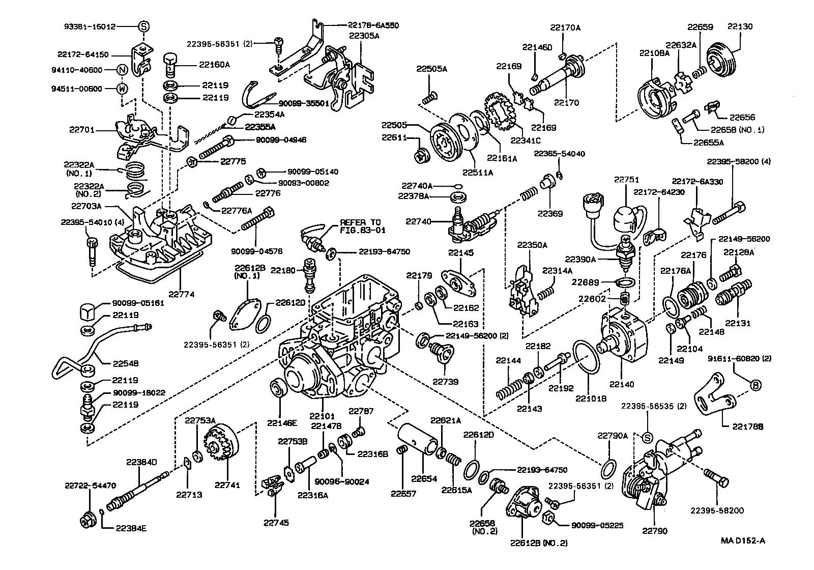 toyota diesel fuel pump diagram