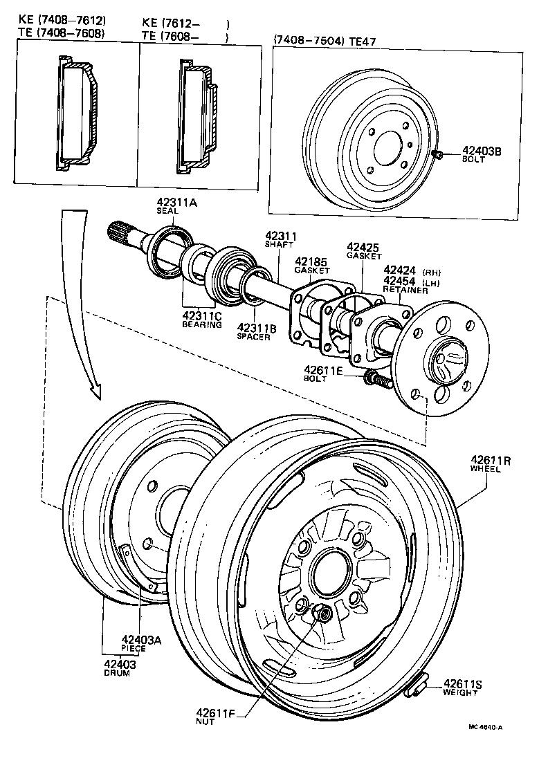 toyota engine parts diagram ma47