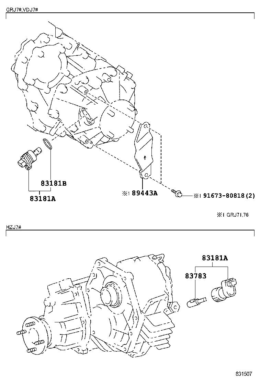 electrical Schaltplang toyota land cruiser vdj79