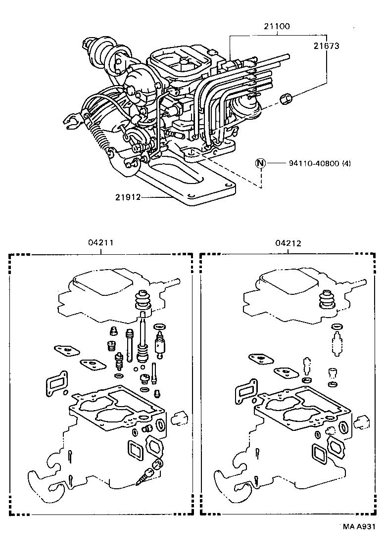2000 toyota camry engine rebuild kit